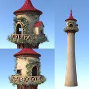 Cartoon-Märchen-Turm 3d model