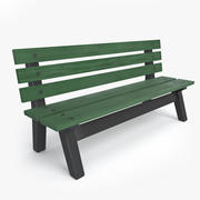 Tennis Court Bench 3d model