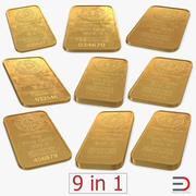 Gold Bars 3D Models Collection 3d model