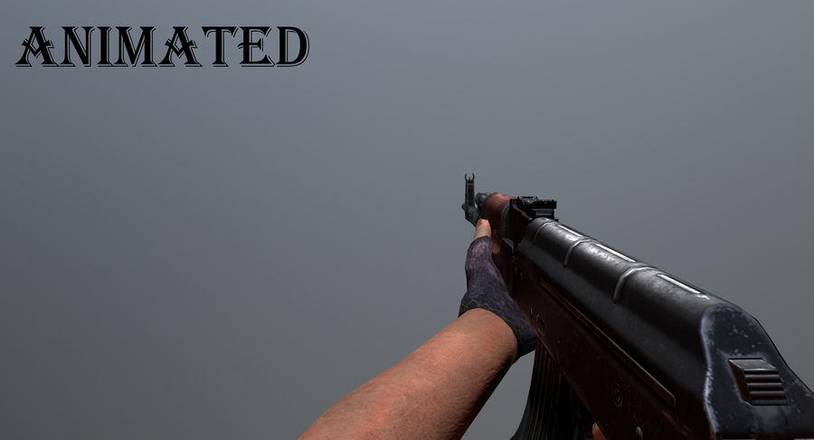 AK-47 geanimeerde FPS royalty-free 3d model - Preview no. 1