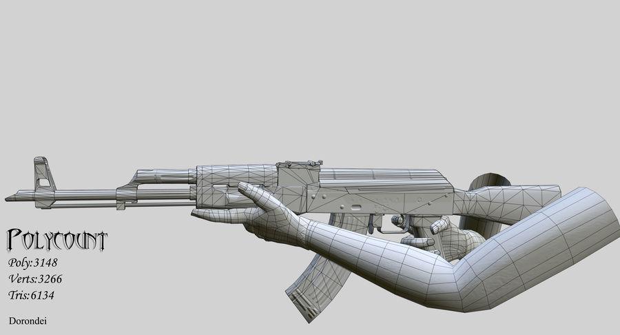 AK-47 geanimeerde FPS royalty-free 3d model - Preview no. 3