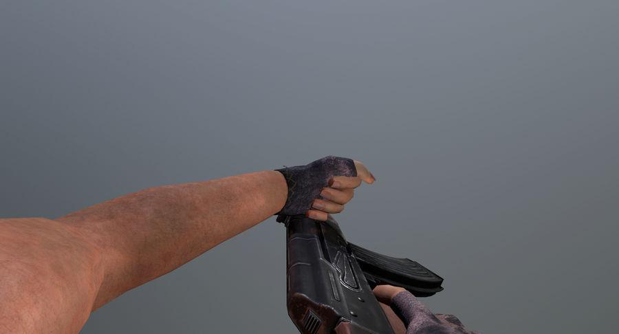 AK-47 geanimeerde FPS royalty-free 3d model - Preview no. 7