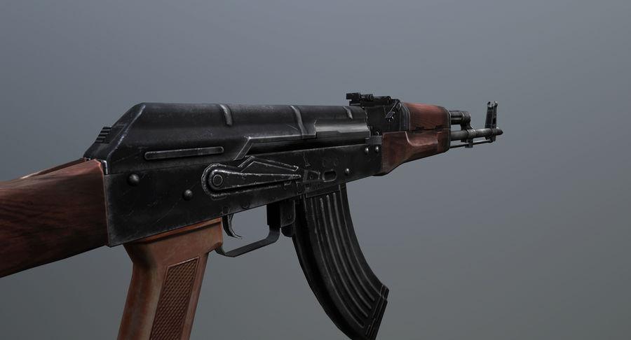 AK-47 geanimeerde FPS royalty-free 3d model - Preview no. 9