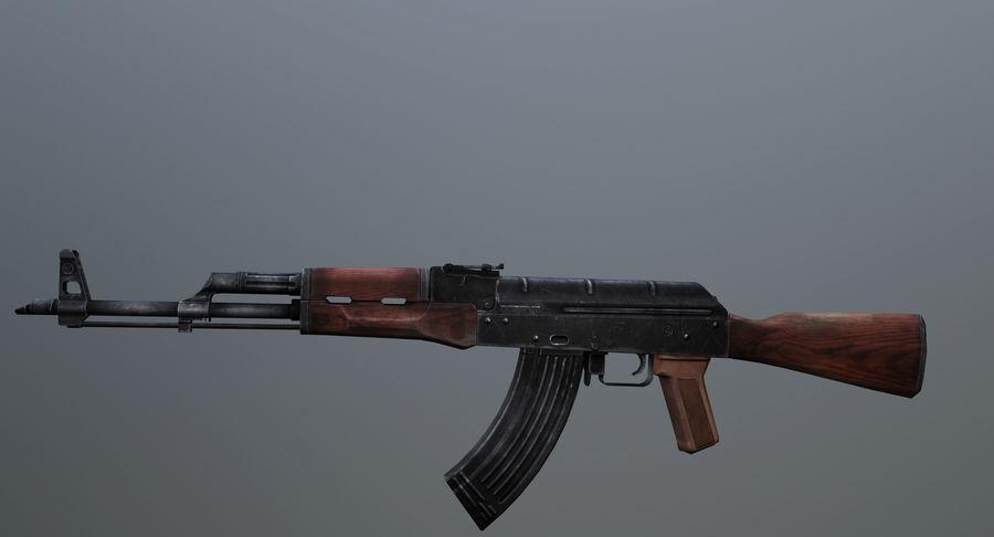 AK-47 geanimeerde FPS royalty-free 3d model - Preview no. 4