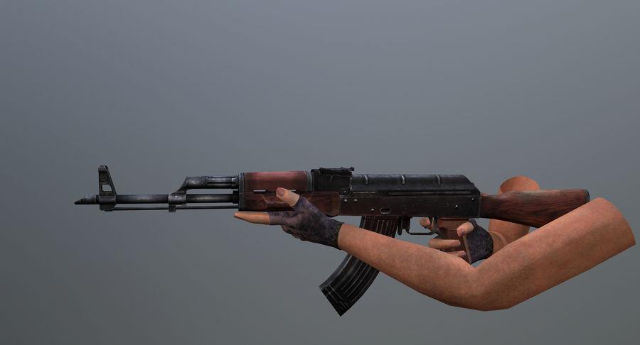 AK-47 geanimeerde FPS royalty-free 3d model - Preview no. 2