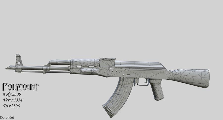 AK-47 geanimeerde FPS royalty-free 3d model - Preview no. 5