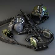 軍隊 3d model