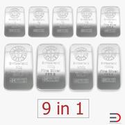 Silver Bars 3D 모델 컬렉션 3d model