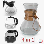 Coffee Carafes 3D Models Collection 2 3d model
