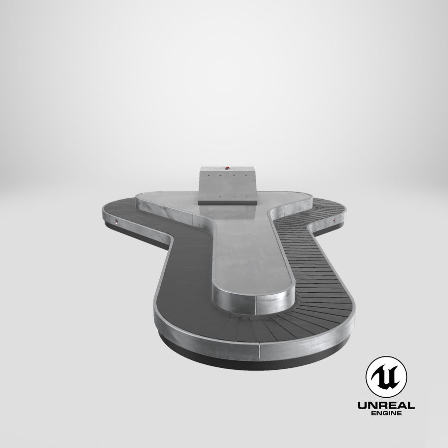 Bagageclaimcarrousel royalty-free 3d model - Preview no. 22