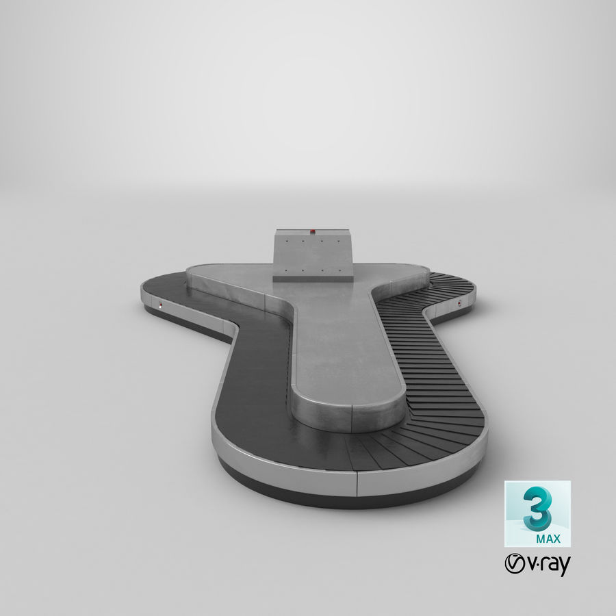 Bagageclaimcarrousel royalty-free 3d model - Preview no. 21