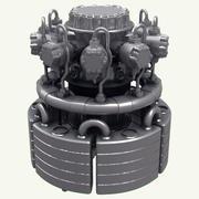 산업용 튜브 엔진 3d model