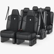 Car Seat Set 3d model