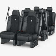 Conjunto de assento de carro 3d model
