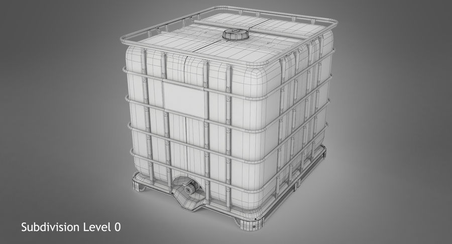 Water Storage Tank royalty-free 3d model - Preview no. 11
