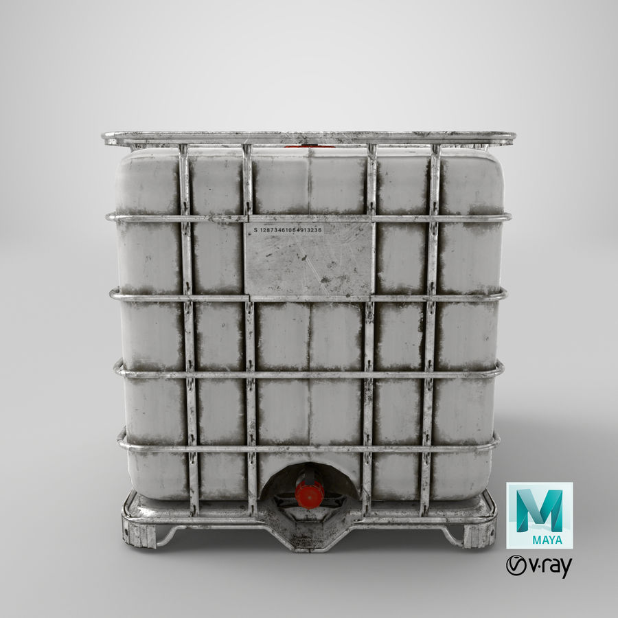 Water Storage Tank royalty-free 3d model - Preview no. 16