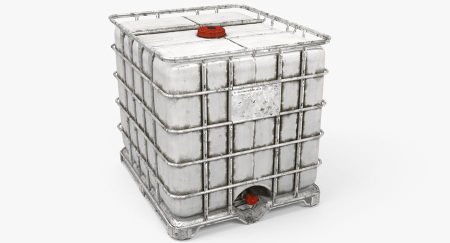 Water Storage Tank royalty-free 3d model - Preview no. 2