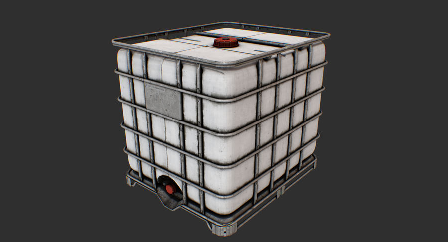 Water Storage Tank royalty-free 3d model - Preview no. 10