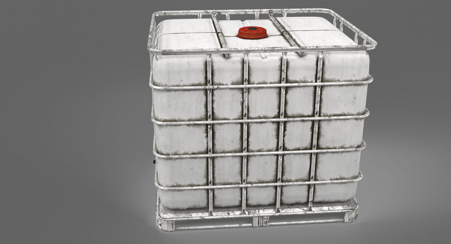 Water Storage Tank royalty-free 3d model - Preview no. 4