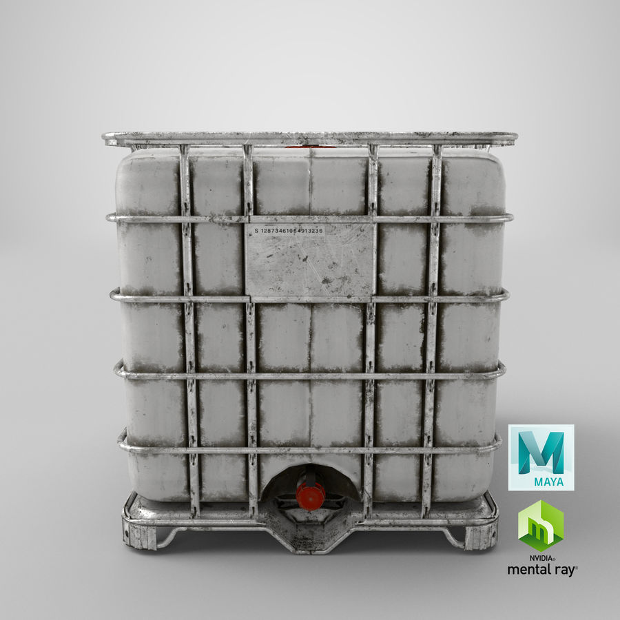 Water Storage Tank royalty-free 3d model - Preview no. 17