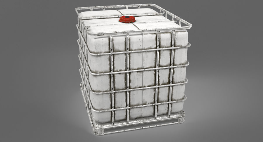 Water Storage Tank royalty-free 3d model - Preview no. 6