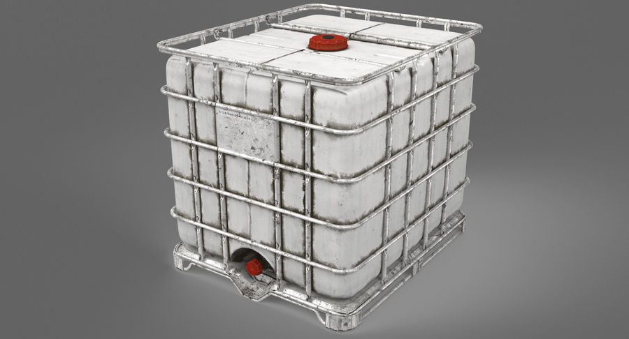 Water Storage Tank royalty-free 3d model - Preview no. 5