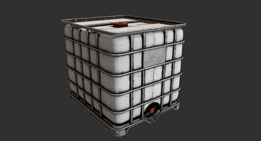 Water Storage Tank royalty-free 3d model - Preview no. 9