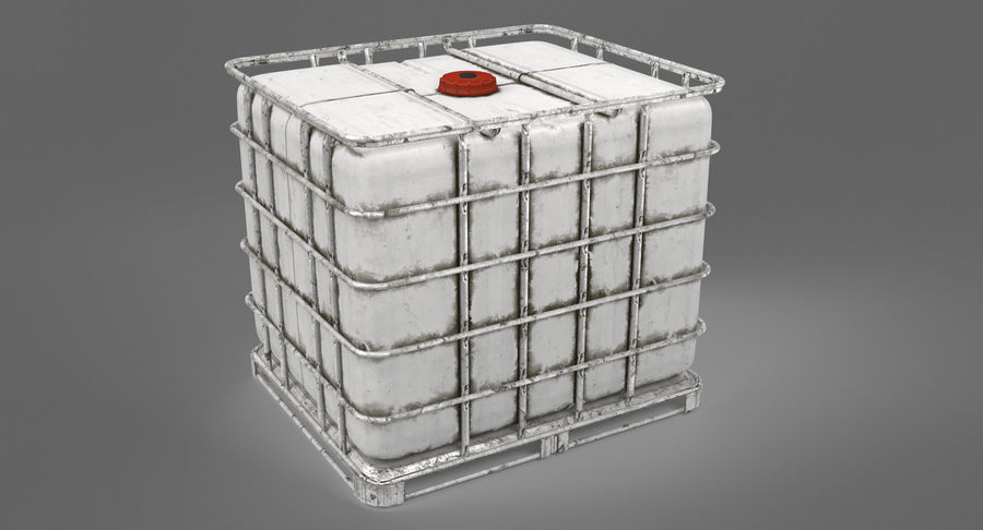 Water Storage Tank royalty-free 3d model - Preview no. 7