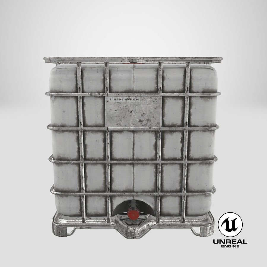 Water Storage Tank royalty-free 3d model - Preview no. 21