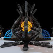 Scifi 사원 3d model