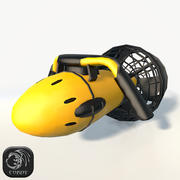 水中推進低ポリイエロー 3d model
