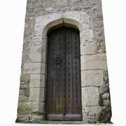 Balayage de porte extérieure en bois 3d model
