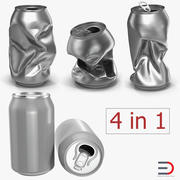 Aluminium Cans Collection 3d model