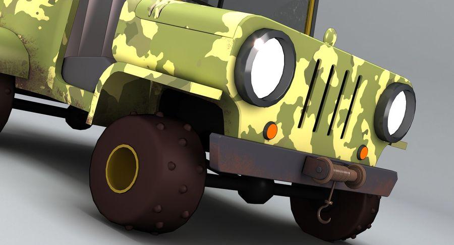 Cartoon Military Car royalty-free 3d model - Preview no. 6