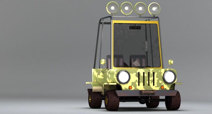 Cartoon Military Car royalty-free 3d model - Preview no. 5
