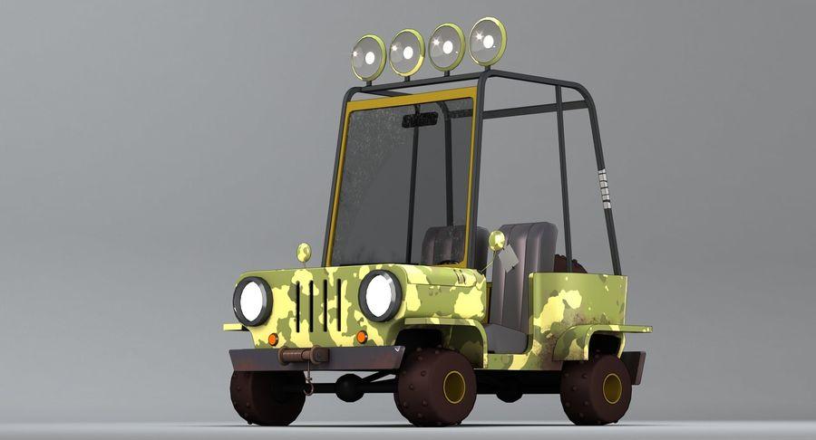Cartoon Military Car royalty-free 3d model - Preview no. 3