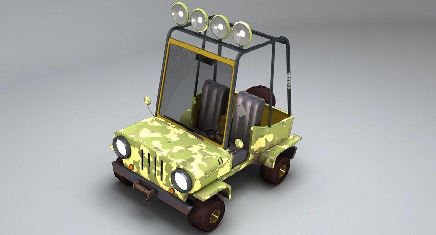 Мультфильм военный автомобиль royalty-free 3d model - Preview no. 8