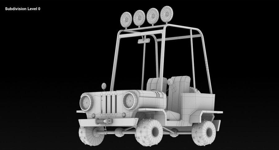 Cartoon Military Car royalty-free 3d model - Preview no. 9