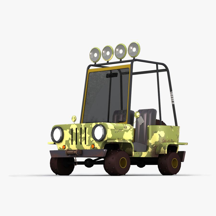 Cartoon Military Car royalty-free 3d model - Preview no. 1