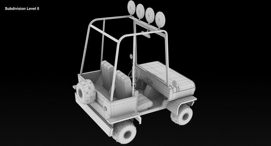 Мультфильм военный автомобиль royalty-free 3d model - Preview no. 10