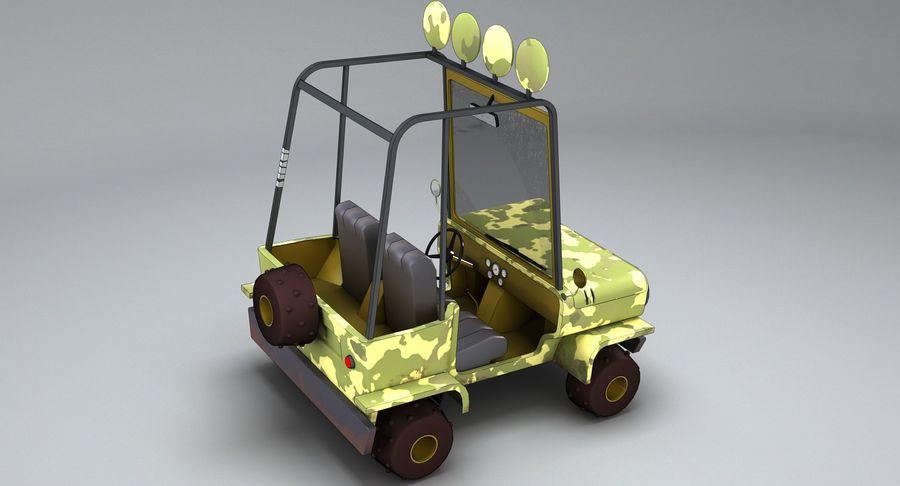 Cartoon Military Car royalty-free 3d model - Preview no. 7