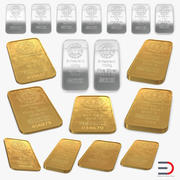 Gold and Silver Bars 3D Models Collection 3d model
