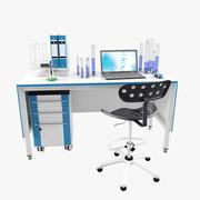 実験室の職場_3 3d model