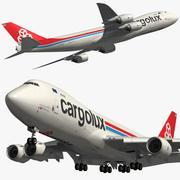 Boeing 747 8F Cargolux 3d model