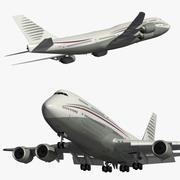 Boeing 747 8 Catar Amiri 3d model