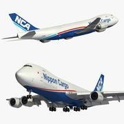 Boeing 747 8F Nippon Cargo 3d model