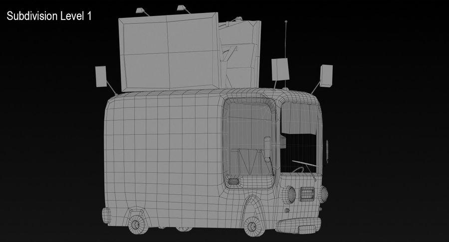 Cartoon Burger Bus royalty-free 3d model - Preview no. 16
