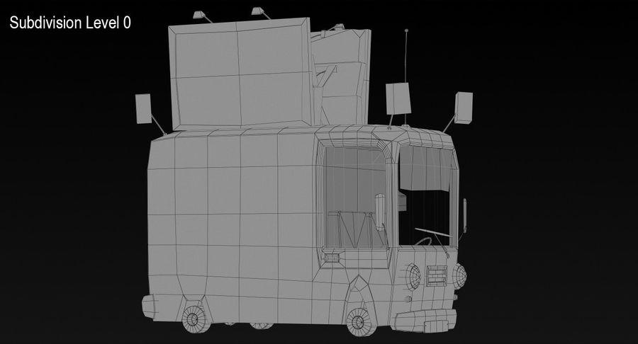 Cartoon Burger Bus royalty-free 3d model - Preview no. 15
