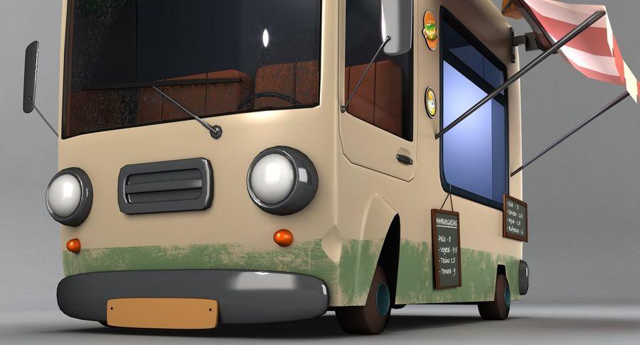 Cartoon Burger Bus royalty-free 3d model - Preview no. 8