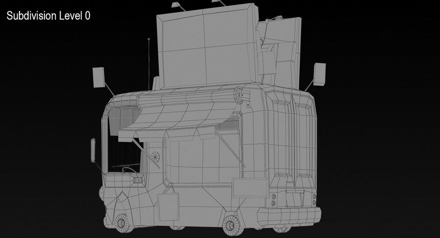 Cartoon Burger Bus royalty-free 3d model - Preview no. 13